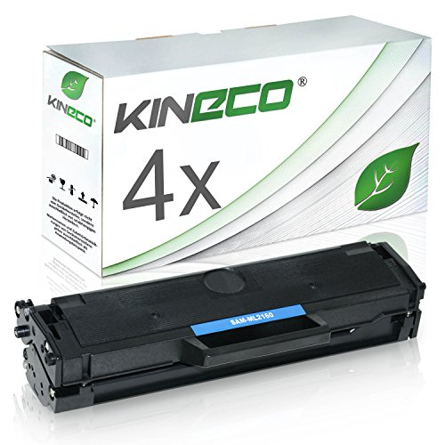 Preisvergleich Produktbild 4 Toner kompatibel zu Samsung MLT-D101S ML-2160 2161 2162 2164 W 2165 W 2168 SCX-3400 F Series 3401 3405 F FW W SF-760 P - Schwarz je 1.500 Seiten