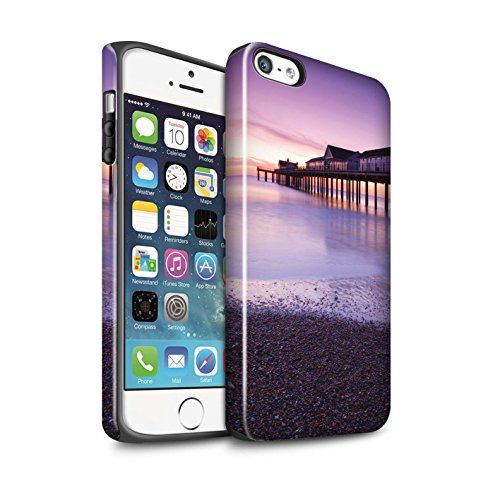 Coque Brillant Robuste Antichoc de STUFF4 / Coque pour Apple iPhone 5/5S / Point De Vue Jetée Design / Bord Mer Anglaise Collection Jetée