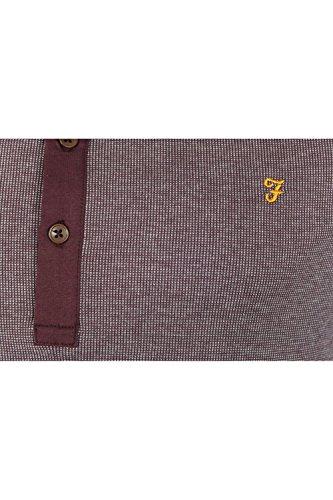 Farah The Hammond Short Sleeve Polo in Bordeaux Bordeaux 476