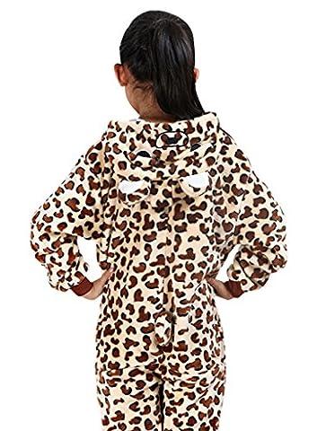 gillbro Enfant Unisexe Pyjama déguisement cosplay costume pour Noël cadeau, Leopard Ours - multicolore - 125 cm