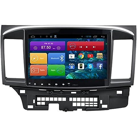 Top Navi da 10.11024* 600Android 4.4PC Auto Player per Mitsubishi Lancer 201020112012201320142015Auto di navigazione GPS WIFI Bluetooth Radio 1,2GB CPU DDR3Capacitivo Touch Screen 3G car stereo audio rubrica RDS AUX Specchio link 16GB Quad Core