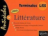 Antisèches Littérature, Terminales L/ES