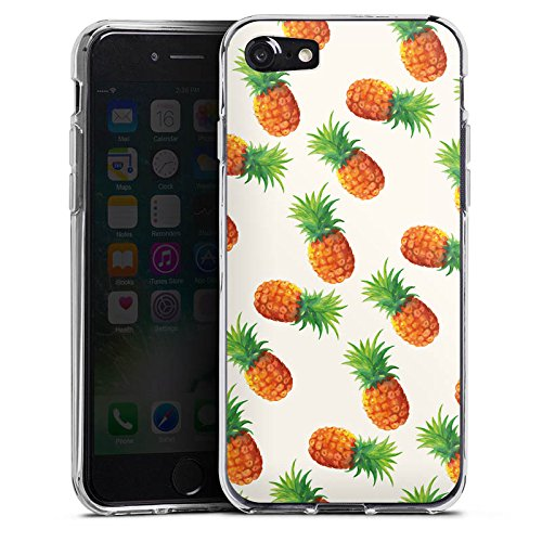 Apple iPhone X Silikon Hülle Case Schutzhülle Ananas Sommer 90er Silikon Case transparent