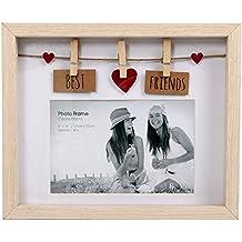 Para tender caja de madera con marco de pinzas para 6 x 4 x - Best