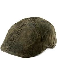 Casquette Gatsby Texas Pig Skin Stetson casquettes pour l´hiver casquette en cuir