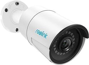 Reolink Poe IP Kamera 5MP Super HD 2560x1920 Überwachungskamera Bullet mit Audio und SD Kartenteckplatz, für Innen- und Außenbereich IP66 Wasserfest, mit IR Nachtsicht, Bewegungserkennung RLC-410-5MP