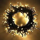 Lichterkette 8m Mit 8 Modi 100 LEDs Lichtervorhang Romantisch Licht Schnur Beleuchtung Innen für Party,Geburtstag, Hochzeit, Warmweiß
