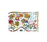 Outflower Pegatinas Cambiar Pared Decorativo, Patrón de Tren de Animales de Dibujos Animados- Etiquetas Adhesivos Adornos 40 x 60 cm