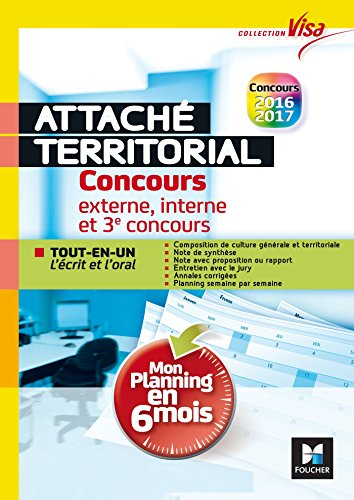 Concours Attach territorial - Mon planning en 6 mois - Tout-en-un express - Visa N1