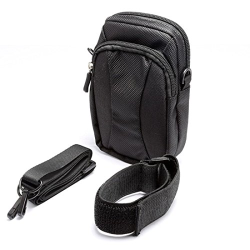 Encounter Outdoor Training Oberarmtasche Handytasche Sporttasche Sportarmband mit Reißverschluss 2 Fäche Schwarz