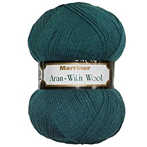 Marriner Aran with Wool 400g Knitting Yarn (Acrylic and Wool Blend) (Dragon Fly)