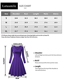 Lotusmile Floral Dress, Sexy V Neck Casual Outing Beach Dress Long Sleeve Swing Midi Dress,mvt Medium 2