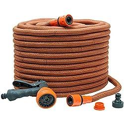 Werkapro 10659 - Tuyau d'arrosage Extensible - 40m avec Pistolet - Orange