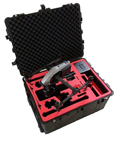 Professioneller Transportkoffer für DJI Inspire 2 - Landing Mode - Platz fuer X4S/X5S - 20 Batterien, Objektive, Deckel im Peli 1630 Koffer von MC-CASES - 8