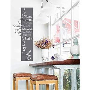 """*NEU* Wandaufkleber Wandtattoo Wandsticker für die Küche/Esszimmer""""KAFFEE BANNER"""" (Größen.- und Farbauswahl)"""