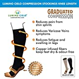 Best Vein Supports - Lumino Cielo Compression Stockings Knee Length For Varicose Review