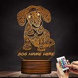 ZCLD 3D Dackel Welpe kann personalisierte benutzerdefinierte, dekorative Beleuchtung mit Farbwechsel Tischlampe Hund Geschenk
