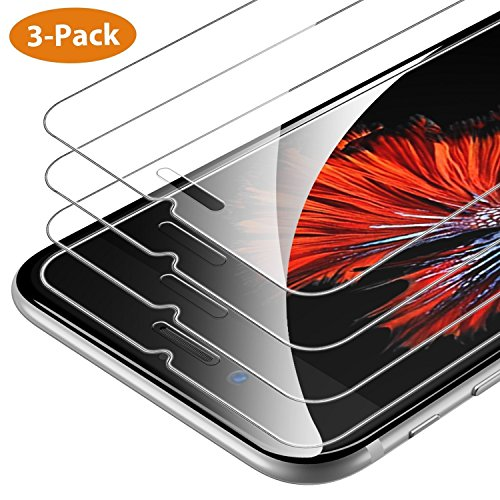 Syncwire Verre Trempé iPhone 6S Plus/6 Plus [Lot de 3] 5.5 Pouces Film Protection Ecran Vitre HD pour iPhone 6S Plus/6 Plus [Dureté 9H, Incassable, 3D-Touch,Transparent, Facile à Installer]