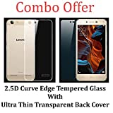 Opus OPUS-Transparent +TEMP-K50001 Lenovo Vibe K5 Tempered Glass + Transparent Back Cover [COMBO OFFER]