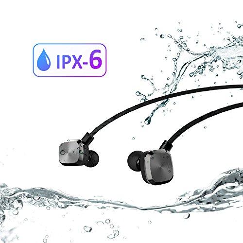 UMIDIGI Bluetooth Kopfhörer, wireless Kopfhörer Stereo In Ear Ohrhörer mit Magnet, Bluetooth 4.1, 8-Stunden-Spielzeit, IPX6 Spritzwasserfest, Kabellose Headset mit Mikrofon für iPhone iPad Samsung Galaxy Note und Android Handy - 2