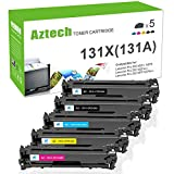 Aztech 5 Pack Kompatibel für HP CF210X HP 131A 131X Toner für Toner HP LaserJet Pro 200 color MFP M276nw HP LaserJet Pro 200 color M251n HP LaserJet Pro MFP M276n Toner HP 200 Toner LaserJet 200 color Drucker
