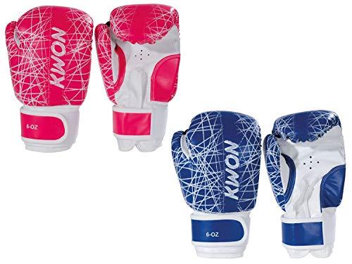 Kwon Kinder Boxhandschuhe Neon 6oz pink-blau