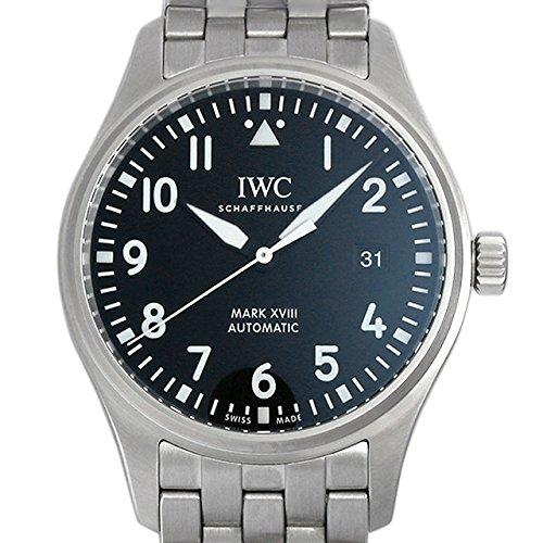 IWC Herren-Armbanduhr 40mm Armband Edelstahl + Gehäuse Automatik Zifferblatt Schwarz Analog IW327011