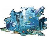 3D Delphin Kinderzimmer Babyzimmer Badezimmer Wandtattoo Wandaufkleber , Vinyl (Leuchtend Delphin)