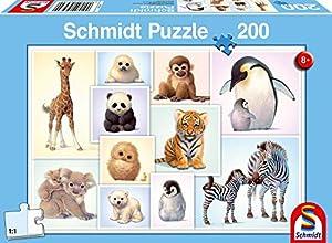 Schmidt Spiele Puzzle 56270Animales Niños la Luna, niño Rompecabezas, 200Piezas