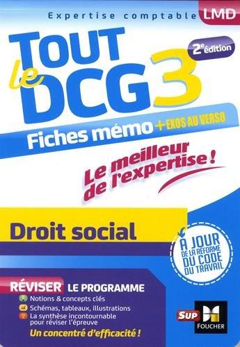 Tout le DCG 3 - Droit social - Entrainement et rvision - 2me dition