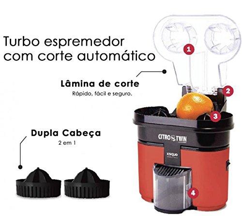 Citro Twin - Extractor Exprimidor de Naranja doble cabezal -Zumos