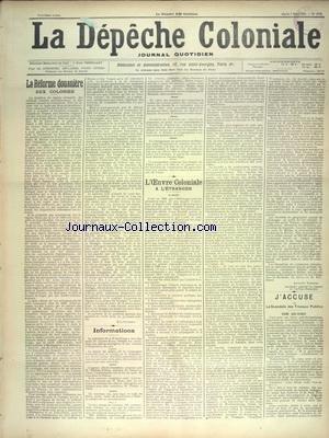 DEPECHE COLONIALE (LA) [No 1373] du 05/03/1901