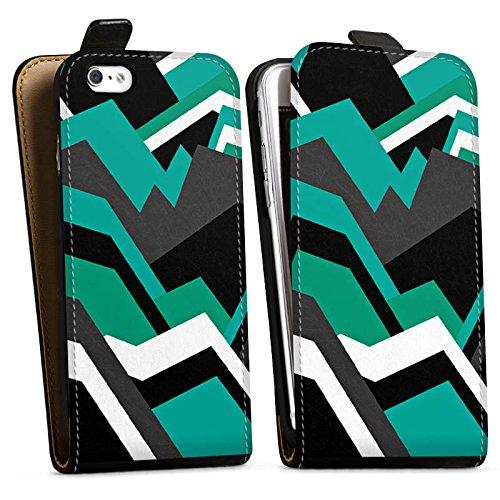 Apple iPhone X Silikon Hülle Case Schutzhülle Steine Berge Muster Downflip Tasche schwarz