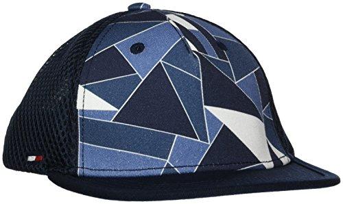 Tommy Hilfiger Jungen Kappe Flat Brim Cap, Blau (Camo Print 903), L
