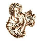 AmazinGrave - Dekorative Ornamenten Verschiedene, Grabdekorationen für Grabsteine Anwendung - Ornament für Grabstein 17x15cm - Grabschmuck Bronze 3057