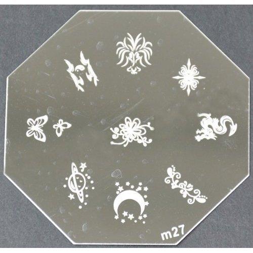 Nail Art emboutissage des tôles - M01 CODE : M27-plaque