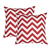 TIDWIACE Wine Red Cushion Cover Decorative Square Throw Pillow Cases for Sofa Bedroom, with Invisible Zipper 45cm x 45cm,Set of 2 Wave
