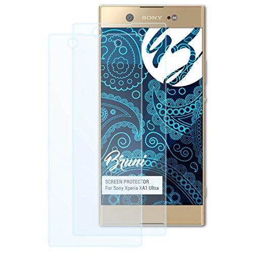 Bruni Schutzfolie für Sony Xperia XA1 Ultra Folie, glasklare Bildschirmschutzfolie (2X)