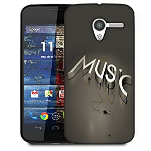 Snoogg Music Designer Protective Back Case Cover For Motorola Moto X