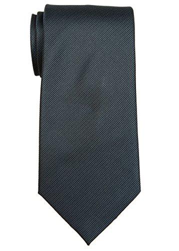Retreez Cravate Pantalon de gilet texturé tissé à rayures avec nœud papillon, coffret cadeau Gris foncé