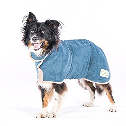 Ruff and Tumble Dog Drying Coat - Classic Collection (XXXS, Brick Red) 4