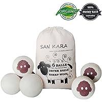 Secador de lana Bolas 6 unidades tamaño grande Premium calidad orgánica Suavizante para ropa, arrugas