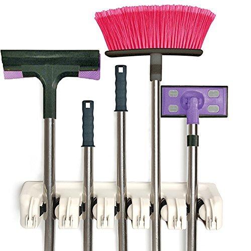 Gerätehalter, Werkzeugleiste für 11 Geräte, Garten Werkzeug Geräte Halter Leiste, Besen Halter,...