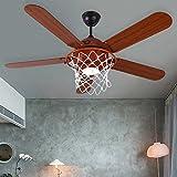 Scarica Libro LED moderni Basket decorazione creativa ventilatori a soffitto con luci di controllo remoto 52pollici 220V (PDF,EPUB,MOBI) Online Italiano Gratis