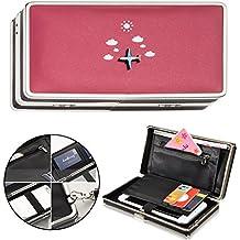 "Vandot Women Cute Cloud Airplane Pattern PU Leather Wallet Phone Clutch Large Capacity 6.3"" Phone Case Zipper Coin Key Pocket Card Holder Organizer Long Travel Wallet Purse Lady Girls Handbag Compatible with Mobile iPhone para iPhone X /8/8 Plus/7/7 Plus/6S/6/6 Plus/SE/5S/5, Samsung Galaxy Note 8/S8 Plus/S8/S6/S7 Edge/A5/A7/J5/J7 Pro 2017, Huawei Mate 10/9/P8/P9/P10 Lite, Sony Xperia XZ /XA1 Ultra, LG K10/K8 2017, Xiaomi mi6/mi 5s, BQ Aquaris ZTE Wiko HTC OnePlus etc, 3D Avión en Rojo"