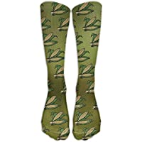 Corn Pattern Unisex Novelty Premium Calf High Athletic Socks Fashional Tube Stockings Size 6-10