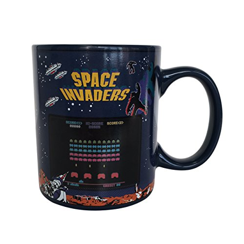 Space Invaders Heat Change Mug, Boxed ceramic
