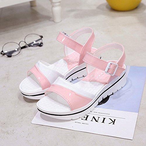 XY&GKDer Frauen in Sandalen Sandalen mit dicken Sohlen 36 Pink