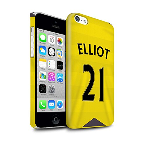 Offiziell Newcastle United FC Hülle / Glanz Snap-On Case für Apple iPhone 5C / Torwart Muster / NUFC Trikot Home 15/16 Kollektion Elliot