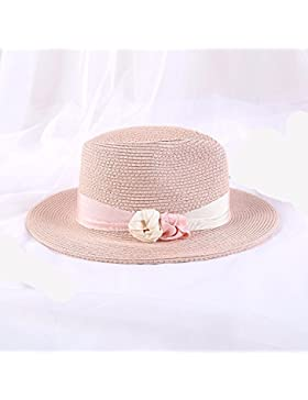 LVLIDAN Sombrero para el sol del verano Dama SolAnti-sunshinestrawhat Retrostyle rosa